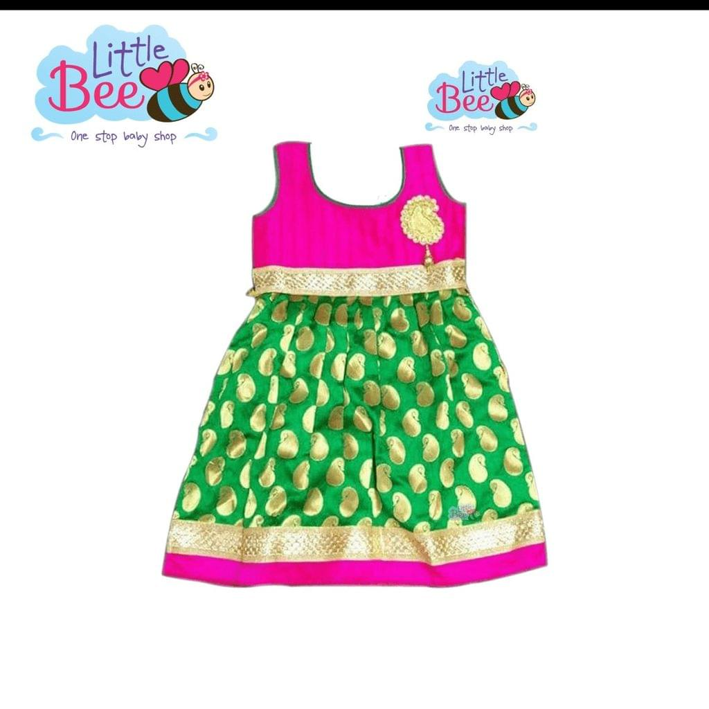 Little Bee Traditional Brocade Frock