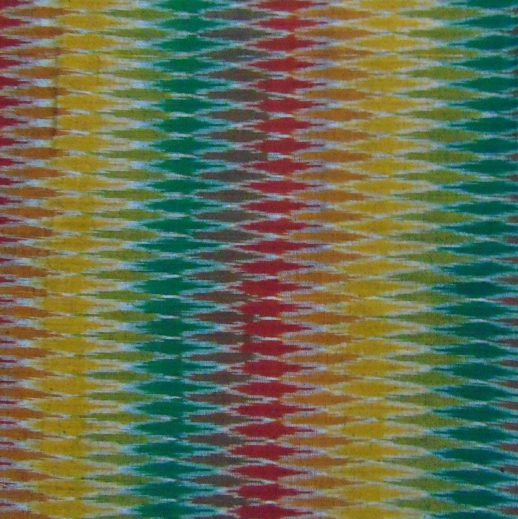 Aarika Multicoloured Ikkat Cotton Running Material