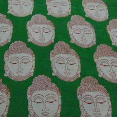 Aarika  Kalamkari Cotton Material with Buddha Prints