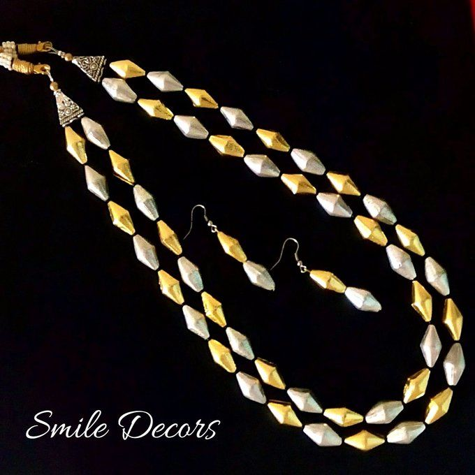 Smile Decors Dual Tone Dolki Bead Jewellery
