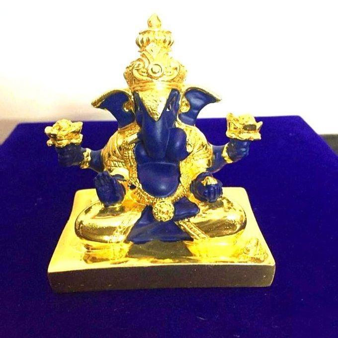 Smile Decors Silver/Gold Plated Ganesha Idol