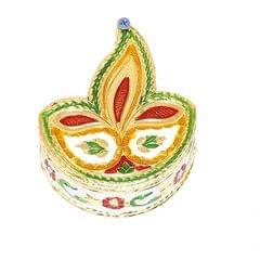 Smile Decors Diya-shaped Meenakari Work Kumkum Box- From Pack of 50