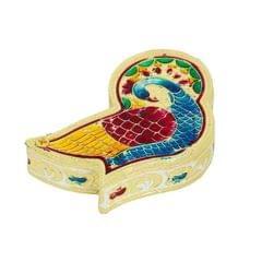 Smile Decors Peacock-shaped Meenakari Kumkum Box- From Pack of 50