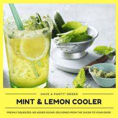 Kid-friendly Freshly Made Lemon-Mint Cooler (Min order 30 units)