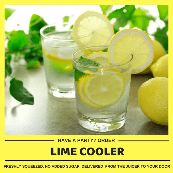 Kid-friendly Freshly Made Lime Cooler (Min order 30 units)