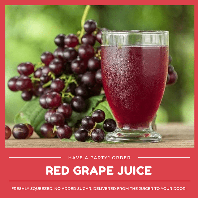 Kid-friendly Freshly Squeezed Grape Juice (Min order 30 units)