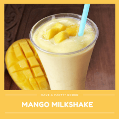 Kid-Friendly Seasonal Mango Milkshake (Min order 30 units)
