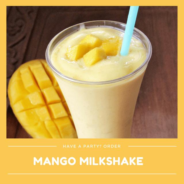 Kid-Friendly Seasonal Mango Milkshake (Min order 30 units)
