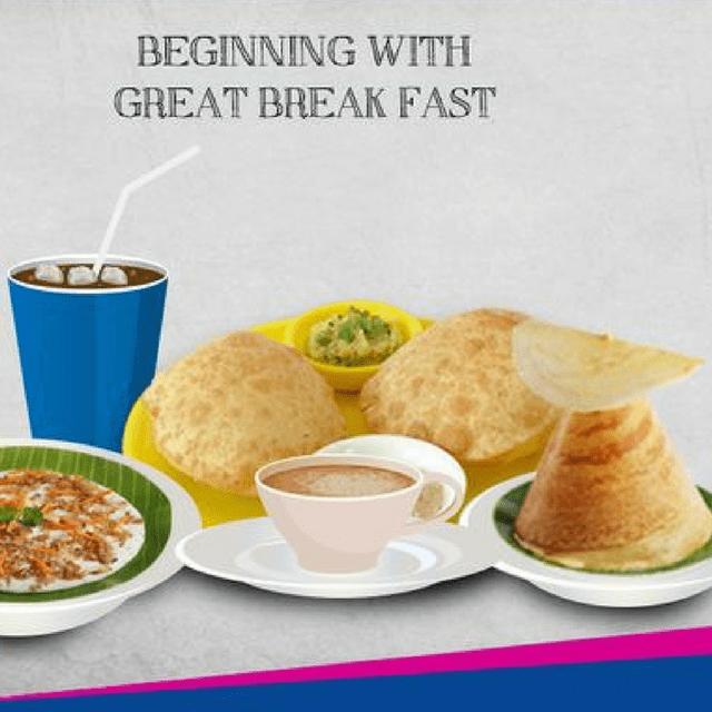 A2B Catering- Tightaah Oru Breakfast Menu