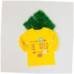 Little Bitty Wild Yellow Cotton Top for Age 4 years