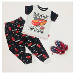 Little Bitty Light Grey Mc Queen Boys Casual Wear Set for Age 4-5 years