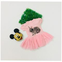 Little Bitty Pink Rabbit Tutu Frock for Age 1-1.5 years