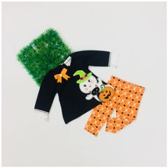 Little Bitty Black Halloween Set for Age 3-6 months