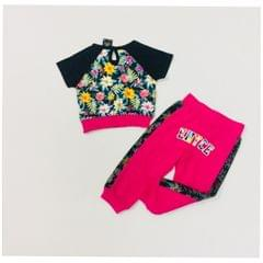 Little Bitty Pink Girl's Crop Netted Set for Age 2 years