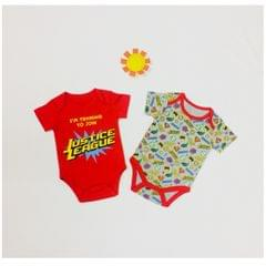 Little Bitty Shades Of Red Unisex Onesies for Age 6 months