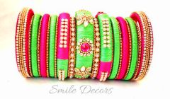 Smile Decors Silk Thread Bridal Bangles