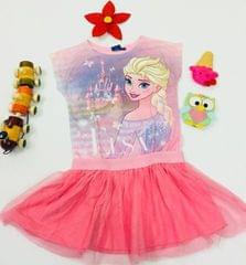 Little Bitty Pink Elsa Frock for Age 4 years