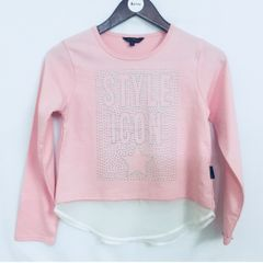 Little Bitty Pink Net Top for Age 10 years