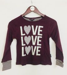 Little Bitty Brown Love Top for Age 6-7 years