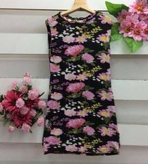 Little Bitty Black Floral Dress for Age 7-8 years