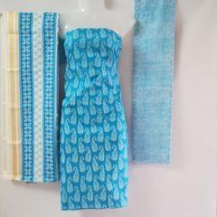 Aarika Light Blue Cotton Chudithar Material