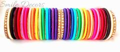 Smile Decors Silk Thread Rainbow Bangles