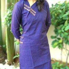 Trayee Violet Mangalagiri Kurta Size XL