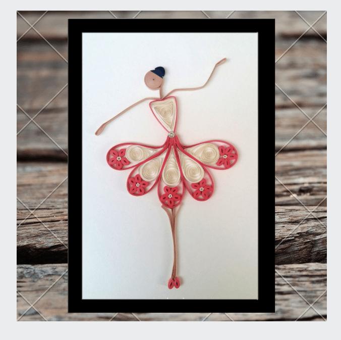 Kadaiveedhi Quilled Ballerina