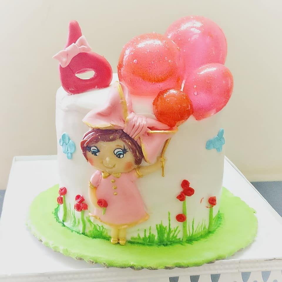 Dolce Olivia Cute Angel with Ballons Cake (1kg)