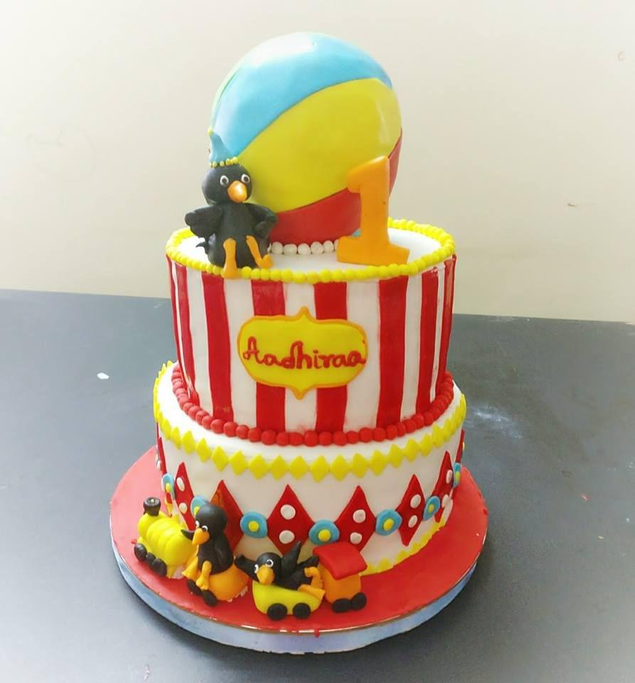 Dolce Olivia Carnival Themed Birthday Cake (1kg)