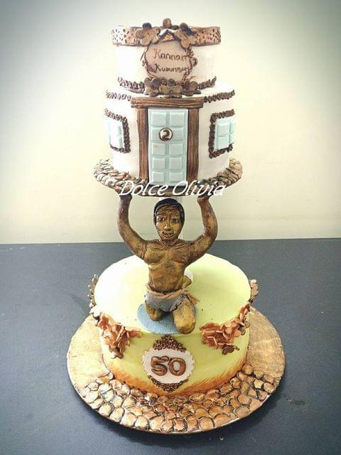 Dolce Olivia human sculpture Themed Cake (3kgs)
