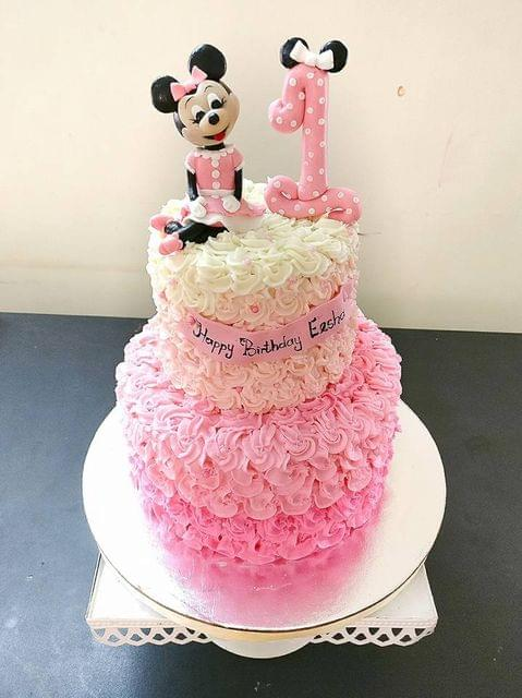 Dolce Olivia Minnie Mouse and Ombre RosettsThemed Cake (4kgs)