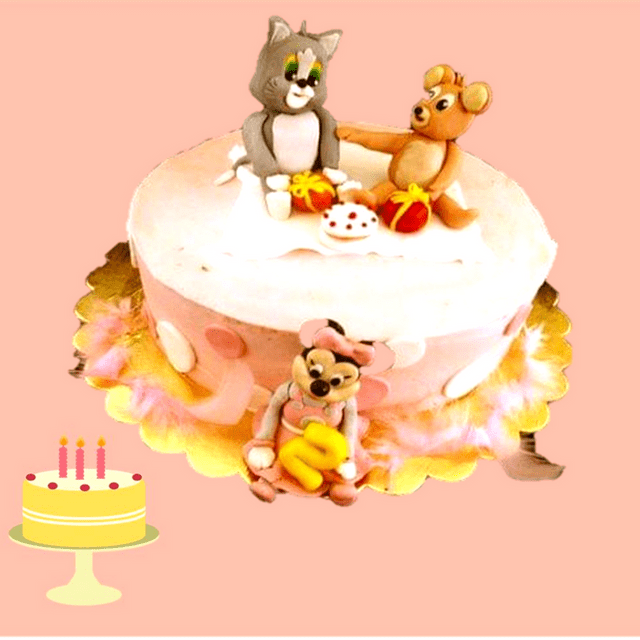Dolce Olivia Tom and Jerry Cake with Cute Minnie (1kg)