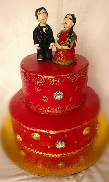 Dolce Olivia  Indian Couple Theme Engagement  cake (3kgs)
