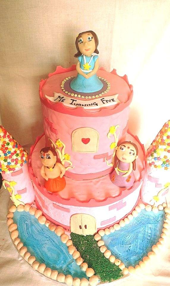 Dolce Olivia Princess Birthday Party Cake (1kg)