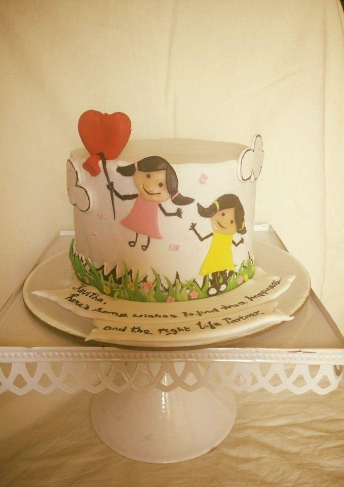 Dolce Olivia Sisters Themed Birthday Cake (1kg)