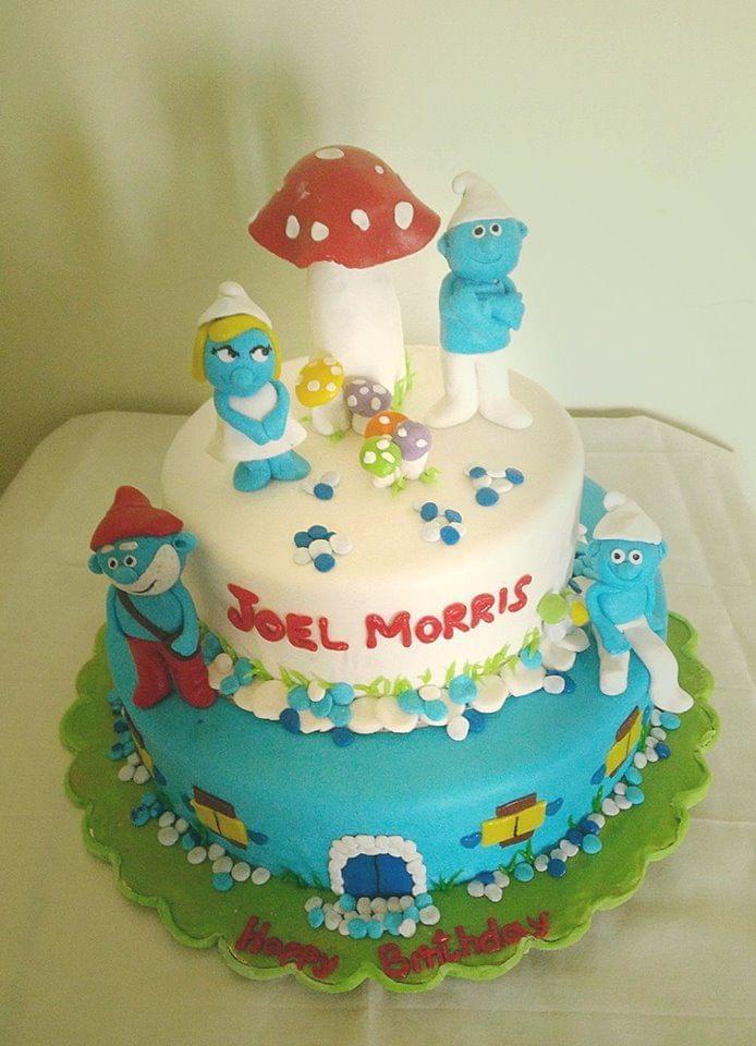 Dolce Olivia Smurfs Theme Cake (1kg)