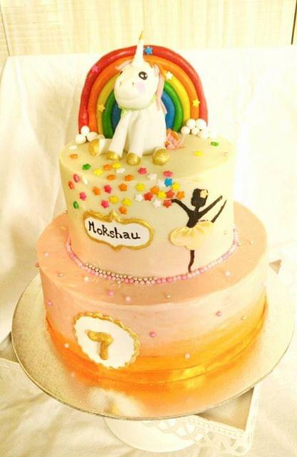 Dolce Olivia Colourful Unicorn Cake (1kg)