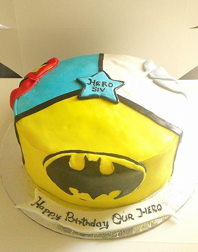 Dolce Olivia Superman and Batman Theme Cake (2kgs)