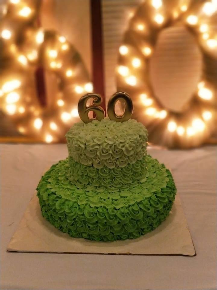 Dolce Olivia 60th Birthday Theme Cake (5kgs)