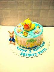 Dolce Olivia Duck Theme Cake with Rabbit (1kg)