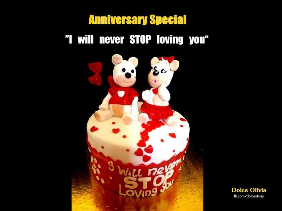 Dolce Olivia Anniversary Special Cake (1kg)