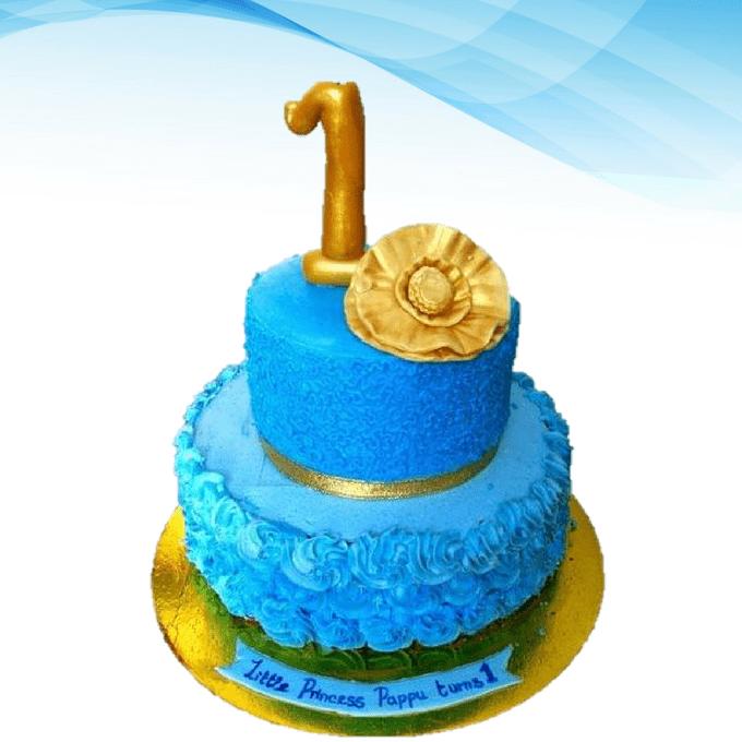 Dolce Olivia Blue Disney Princess Birthday Cake (1kg)