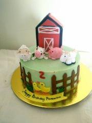 Dolce Olivia Farm Theme Cake with Barn (1kg)