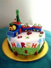 Dolce Olivia Train Theme Cake (1kg)