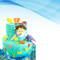 Dolce Olivia Colourful Birthday Party Cake (1kg)