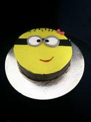 Dolce Olivia Chocolate Truffle Cake with Minion Theme (1kg)