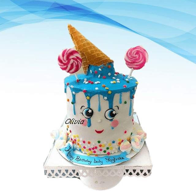 Dolce Olivia Cute Candy and Ice Cream Theme cake (1.5kgs)