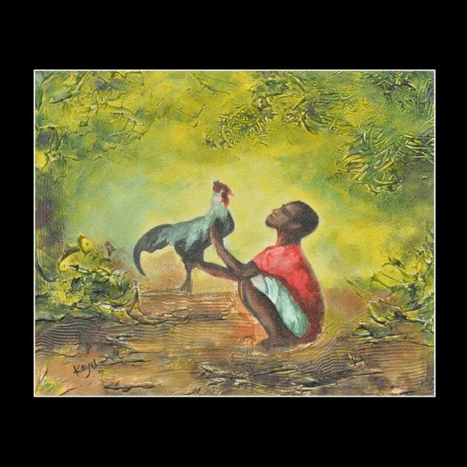 Kadaiveedhi Arts Cock - with Frame