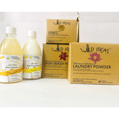 Wild Ideas Home Cleaning Essentials with Citrus Laundry Powder